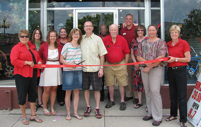 Beloit Bike Ribbon Cutting