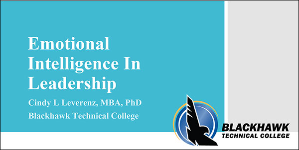 Emotional Intelligence in Leadership | Cindy L. Leverenz, MBA, PhD